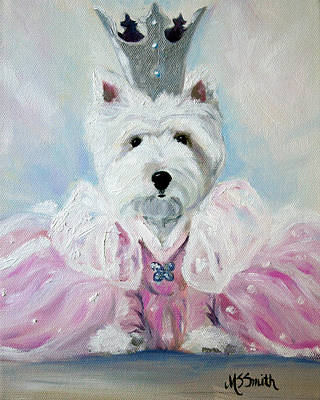 Glenda The Good Pup Print by Mary Sparrow
