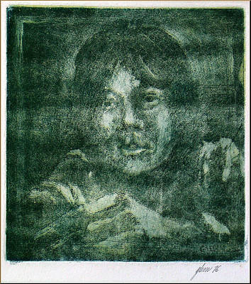 Mixed Media - Glenn Self Portrait 1976 by Glenn Bautista