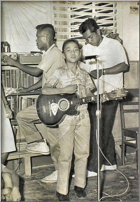 Photograph - Glenn Singing - 1958 by Glenn Bautista