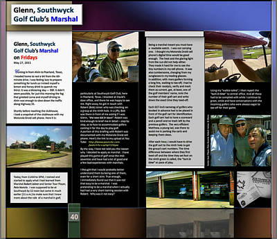 Digital Art - Glenn Southwyck Golf Marshal P40 by Glenn Bautista