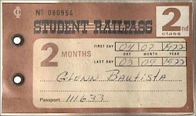 Photograph - Glenn Student Railpass 1972 by Glenn Bautista