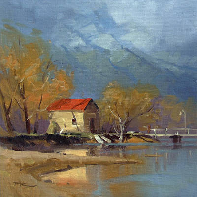Shed Painting - Glenorchy by Richard Robinson
