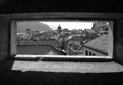 Photograph - Glimpse Of Dubrovnik by Ramona Johnston
