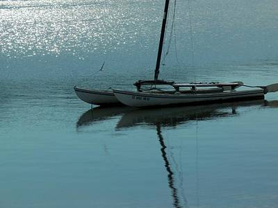 Boats In Morro Bay Photograph - Glistening Sea by Jan Moore