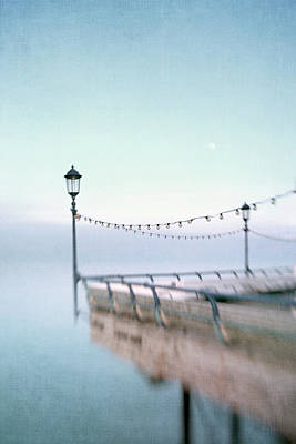 Eastbourne Photograph - Gloaming At End Of The Pier by Paul Grand Image