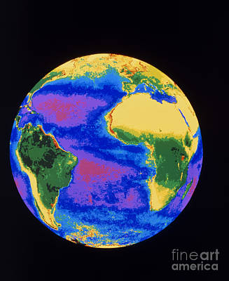 Global Biosphere, Atlantic Ocean Print by Dr. Gene Feldman, NASA Goddard Space Flight Center