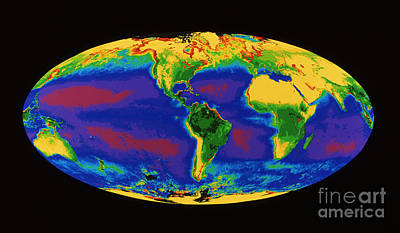 Global Biosphere Print by Dr. Gene Feldman, NASA Goddard Space Flight Center