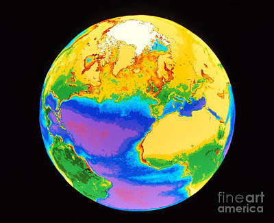 Global Biosphere, Northern Hemisphere Print by Dr. Gene Feldman, NASA Goddard Space Flight Center