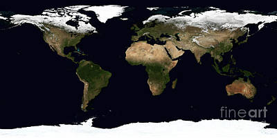 Equirectangular Photograph - Global Image Of Our World by Stocktrek Images