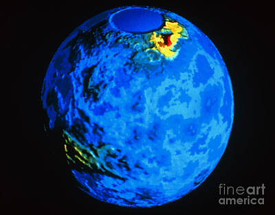 Global Topographic Map Of Venus Art Print by NASA / Science Source