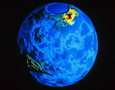 Ishtar Photograph - Global Topographic Map Of Venus by Nasa