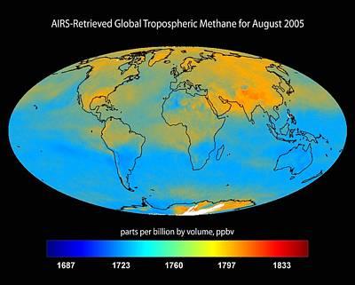 Global Tropospheric Methane, 2005 Art Print