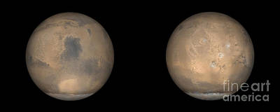 Tharsis Photograph - Global Views Of Mars In Late Northern by Stocktrek Images