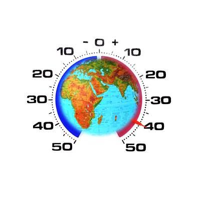 Global Warming,conceptual Image Art Print by Cristina Pedrazzini