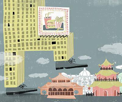 Barcelona Digital Art - Globalization In China by Luciano Lozano