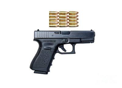 Glock Model 19 Handgun With 9mm Art Print by Terry Moore
