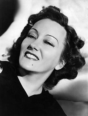 Beauty Mark Photograph - Gloria Swanson, Ca. Early 1940s by Everett