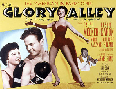Fid Photograph - Glory Alley, Leslie Caron, Ralph by Everett