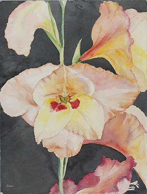 Glory Glads Art Print by Judy Loper