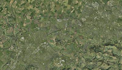 Cheltenham Photograph - Gloucester And Cheltenham, Aerial View by Getmapping Plc