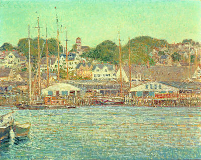 Gloucester Harbor Art Print by Childe Hassam