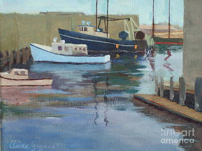 Painting - Gloucester Harbor by Claire Gagnon