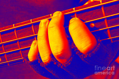 Photograph - Gloved Fingers On Frets by Susan Stevenson