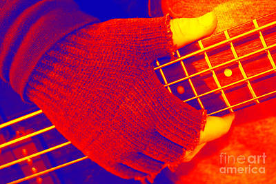 Photograph - Gloved Hand On Frets by Susan Stevenson
