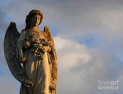 Art Print featuring the photograph Glowing Angel by Jeanne  Woods