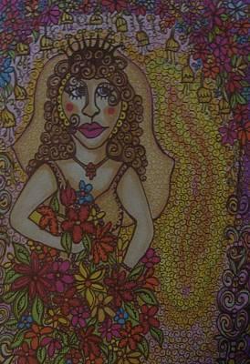 Joyful Drawing - Glowing Bride by Gerri Rowan
