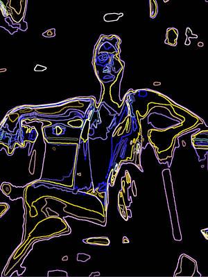 Digital Art - Glowing Brittney Iv by James Granberry