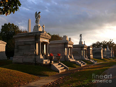 Art Print featuring the photograph Glowing Cemetery by Jeanne  Woods
