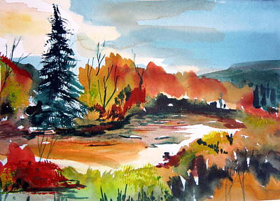 Glowing In Autumn Original by Mindy Newman