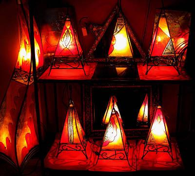 Glowing Lanterns Art Print by Rose Pasquarelli
