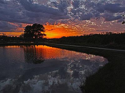 Photograph - Glowing Sunset Over Water by Joseph Jennings