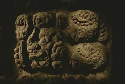 Glyph Representing The Mayan Rulers Art Print by Kenneth Garrett