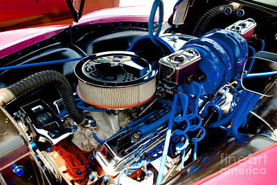 Photograph - Gmc Truck Engine by Mark Dodd