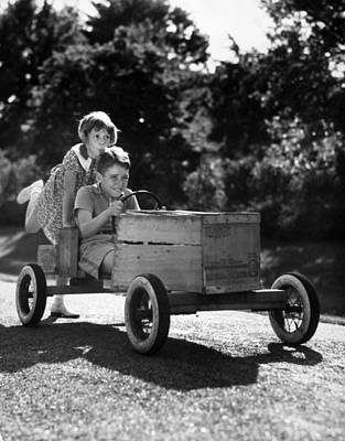 Go-carting Art Print by Archive Photos