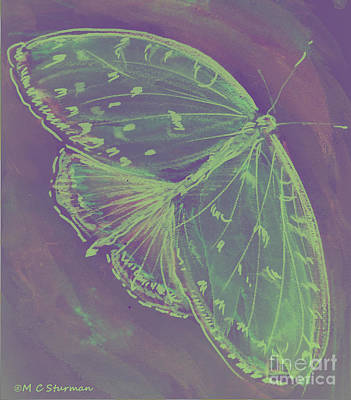 Go Green Butterfly Art Print by M C Sturman