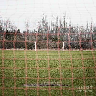 Netting Photograph - Goal Nets On Soccer Field by Jetta Productions, Inc