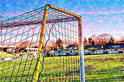 Footie Photograph - Goal Of Dreams by Mandy Jayne