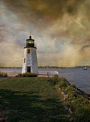 Photograph - Goat Island Light by Robin-Lee Vieira