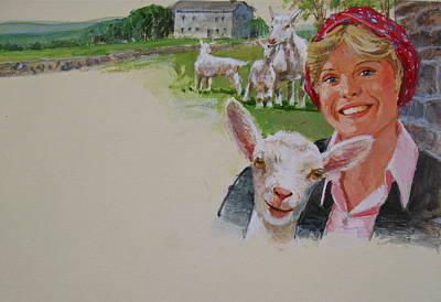 Goat Mixed Media - Goat Lady by Cliff Spohn