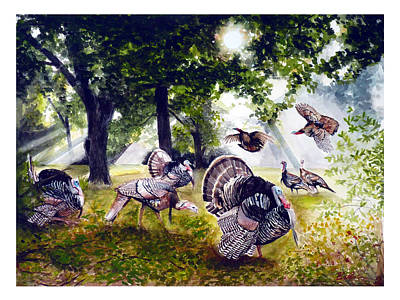 Gobblers Galore Art Print by Dana Bellis