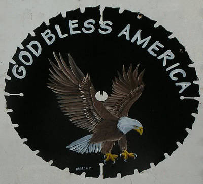 Saw Blades Painting - God Bless America by Darlene Prowell