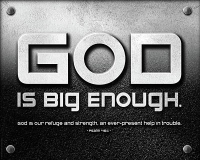 God Is Big Enough - 2 Art Print by Shevon Johnson