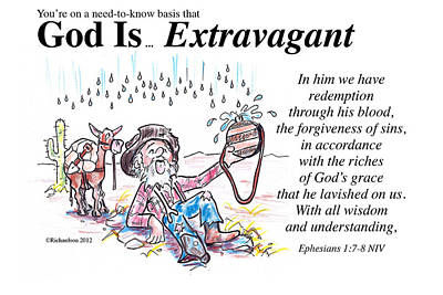 Painting - God Is... Extravagant by George Richardson