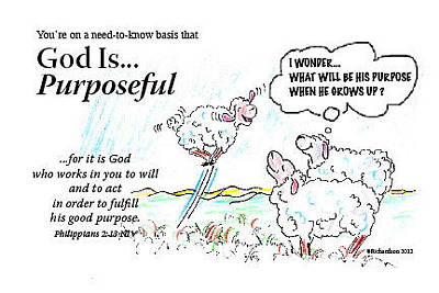 Painting - God Is... Purposeful by George Richardson