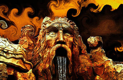 Ancient Greek Art Digital Art - God Of The Four Elements by David Lee Thompson