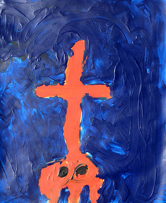 Painting - God On Skull Mountain by Bella